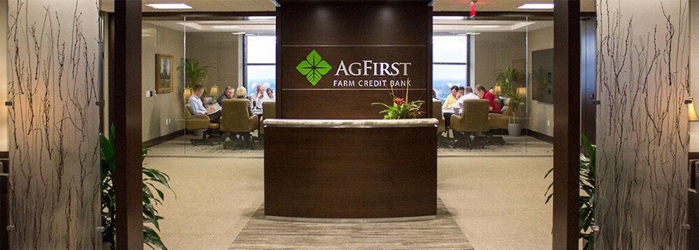 Entrance to AgFirst Farm Credit Bank